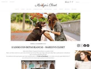 marilynsclosetblog.blogspot.com.es screenshot