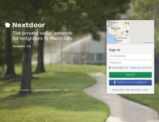 marincity.nextdoor.com screenshot