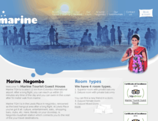 marine-negombo.com screenshot