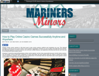 marinersminors.com screenshot