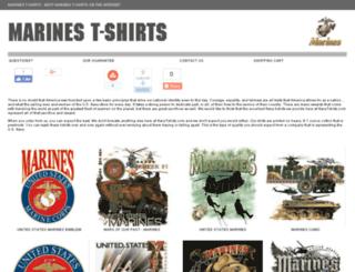marines-tshirts.com screenshot