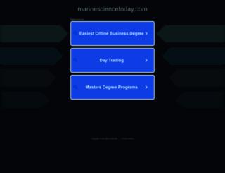 marinesciencetoday.com screenshot