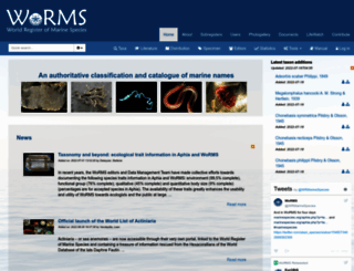 marinespecies.org screenshot