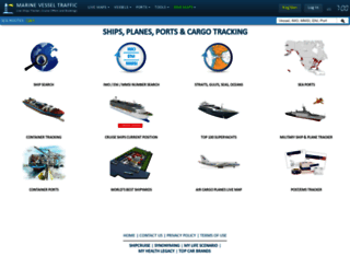 marinevesseltraffic.com screenshot