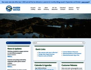 marinwater.org screenshot