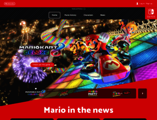 mario.nintendo.com screenshot