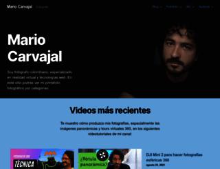mariocarvajal.com screenshot