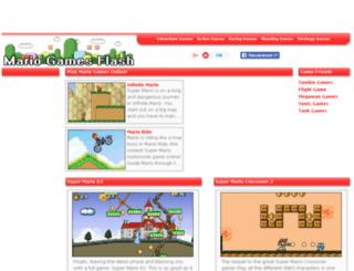 mariogamesflash.com screenshot