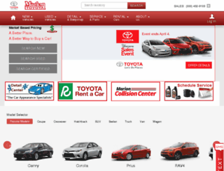 mariontoyota.calls.net screenshot