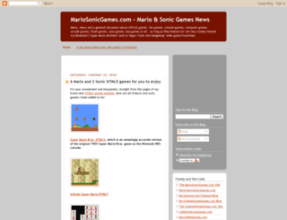 mariosonicgames.blogspot.com screenshot