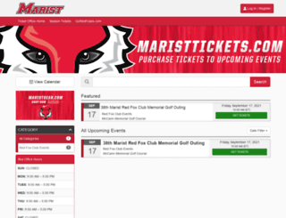 maristtickets.universitytickets.com screenshot