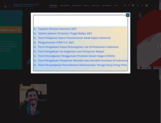 maritim.go.id screenshot