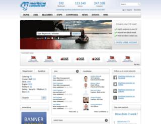 maritime-connector.com screenshot