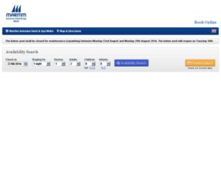 maritimmalta.reserve-online.net screenshot