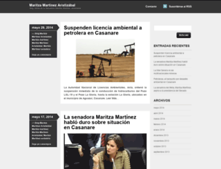 maritzamartinezsenadora.wordpress.com screenshot