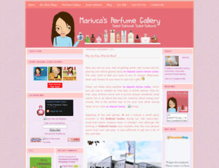 mariucasperfume.com screenshot