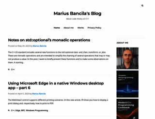 mariusbancila.ro screenshot