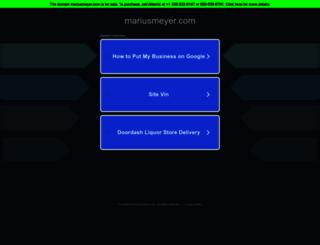 mariusmeyer.com screenshot