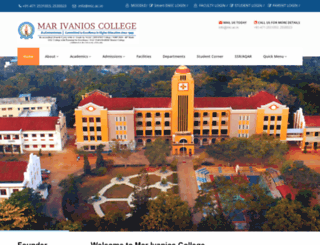 marivanioscollege.ac.in screenshot