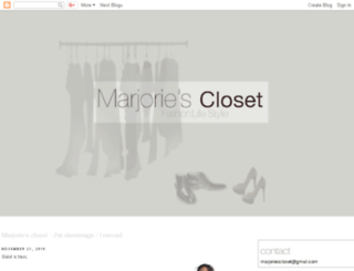 marjoriescloset.blogspot.com screenshot