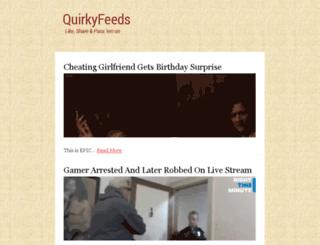 mark.quirkyfeeds.com screenshot