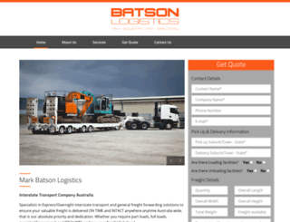markbatsonlogistics.com screenshot