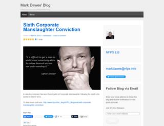 markdawes.wordpress.com screenshot