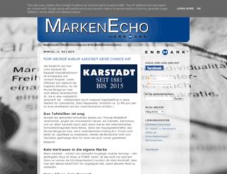 markenecho.de screenshot