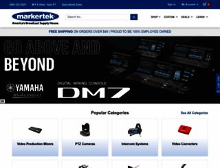 markertek.co.uk screenshot