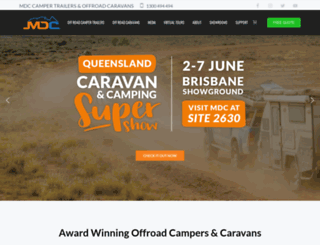 marketdirectcampertrailers.com.au screenshot