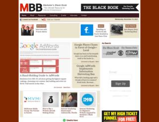 marketersblackbook.com screenshot