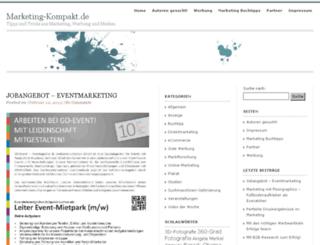 marketing-kompakt.de screenshot