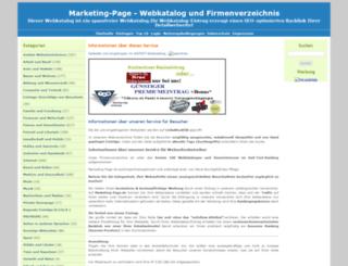 marketing-page.info screenshot