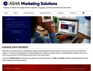 marketing.asha.org screenshot