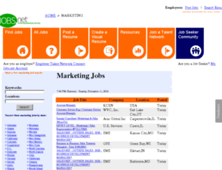 marketing.jobs.net screenshot