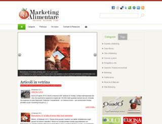 marketingalimentare.it screenshot