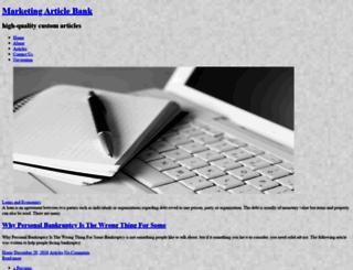marketingarticlebank.com screenshot