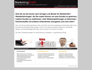 marketingbriefe.de screenshot