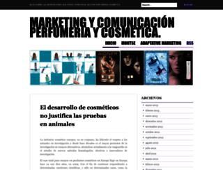 marketingcosmeticaperfumeria.wordpress.com screenshot