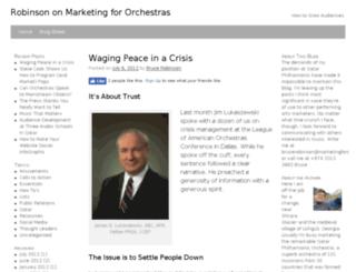 marketingfororchestras.com screenshot