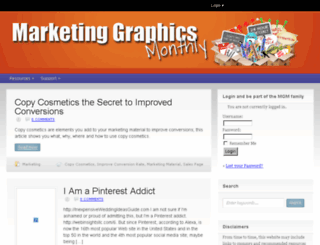 marketinggraphicsmonthly.com screenshot