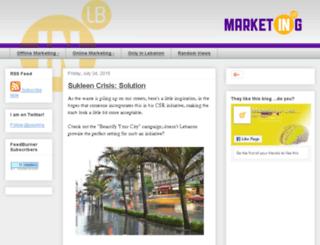 marketinginlebanon.com screenshot