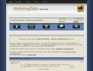 marketingoazis.hu screenshot