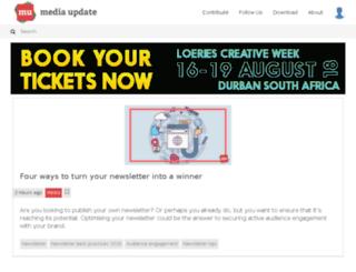 marketingupdate.co.za screenshot
