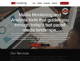 marketiq.co.za screenshot