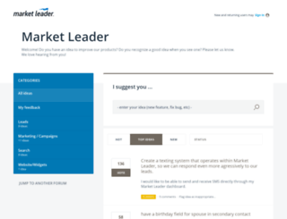 marketleader.uservoice.com screenshot