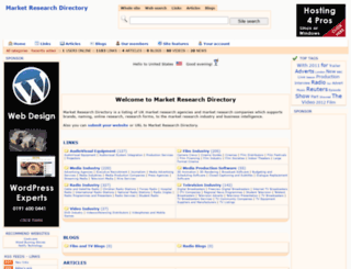 marketresearchdirectory.co.uk screenshot