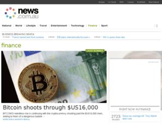 markets.news.com.au screenshot