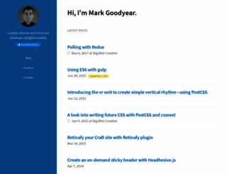 markgoodyear.com screenshot