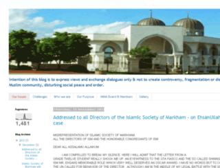 markham-masjid.blogspot.ca screenshot
